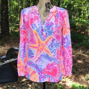 Lilly Pulitzer Elsa Top Too Much Bubbly XXS NWOT